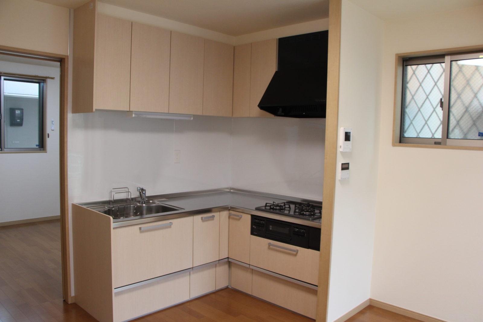 L型のキッチン