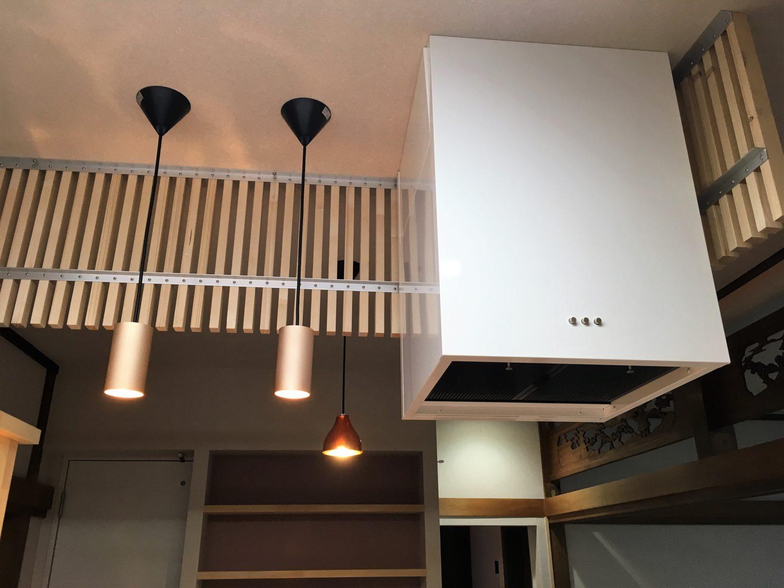 キッチン手元用照明+換気扇