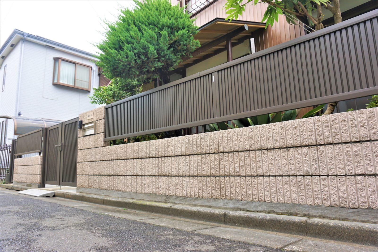化粧ブロック塀+フェンス