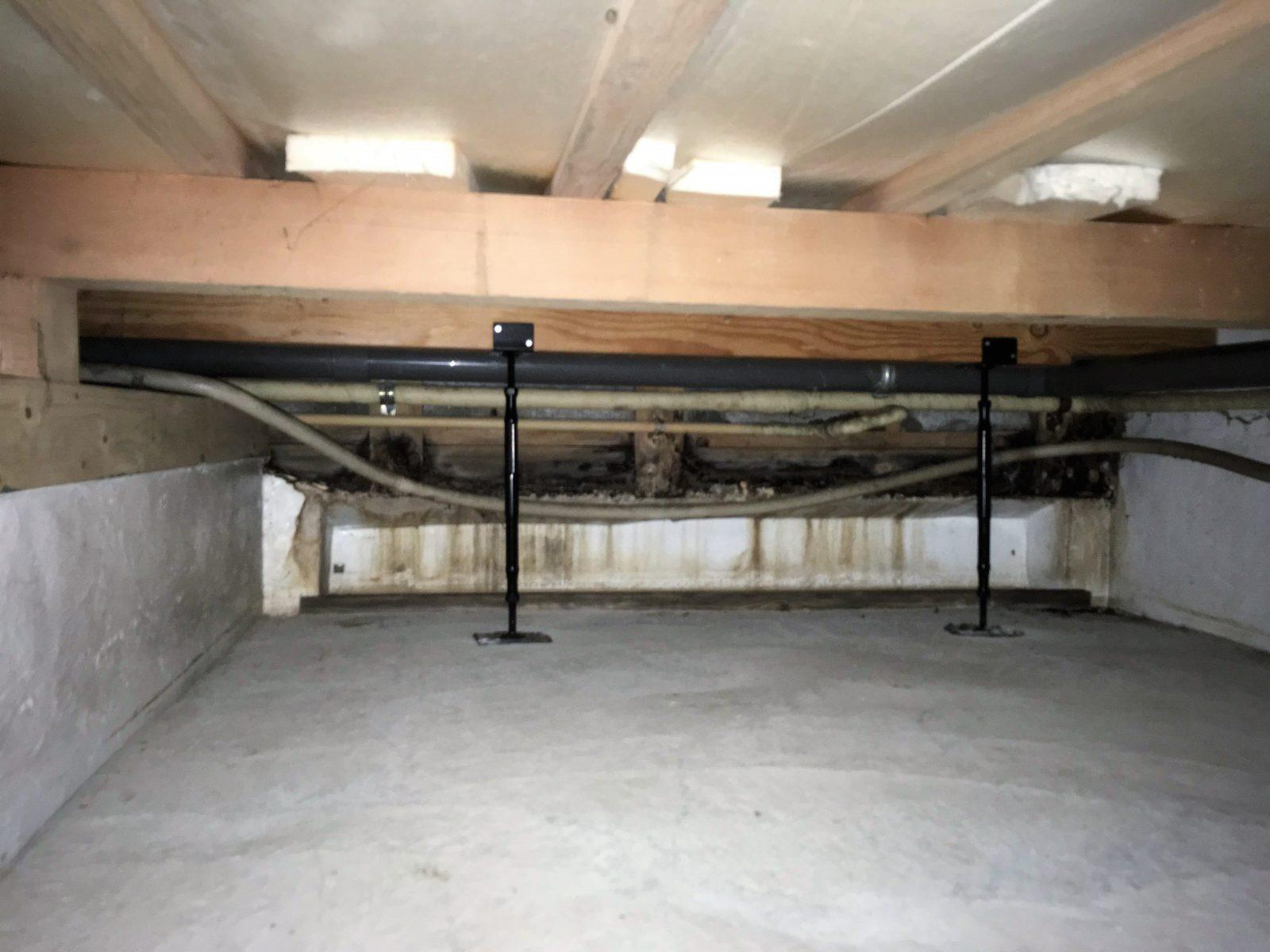 キッチン床下の浸水を直し安心の住まいに