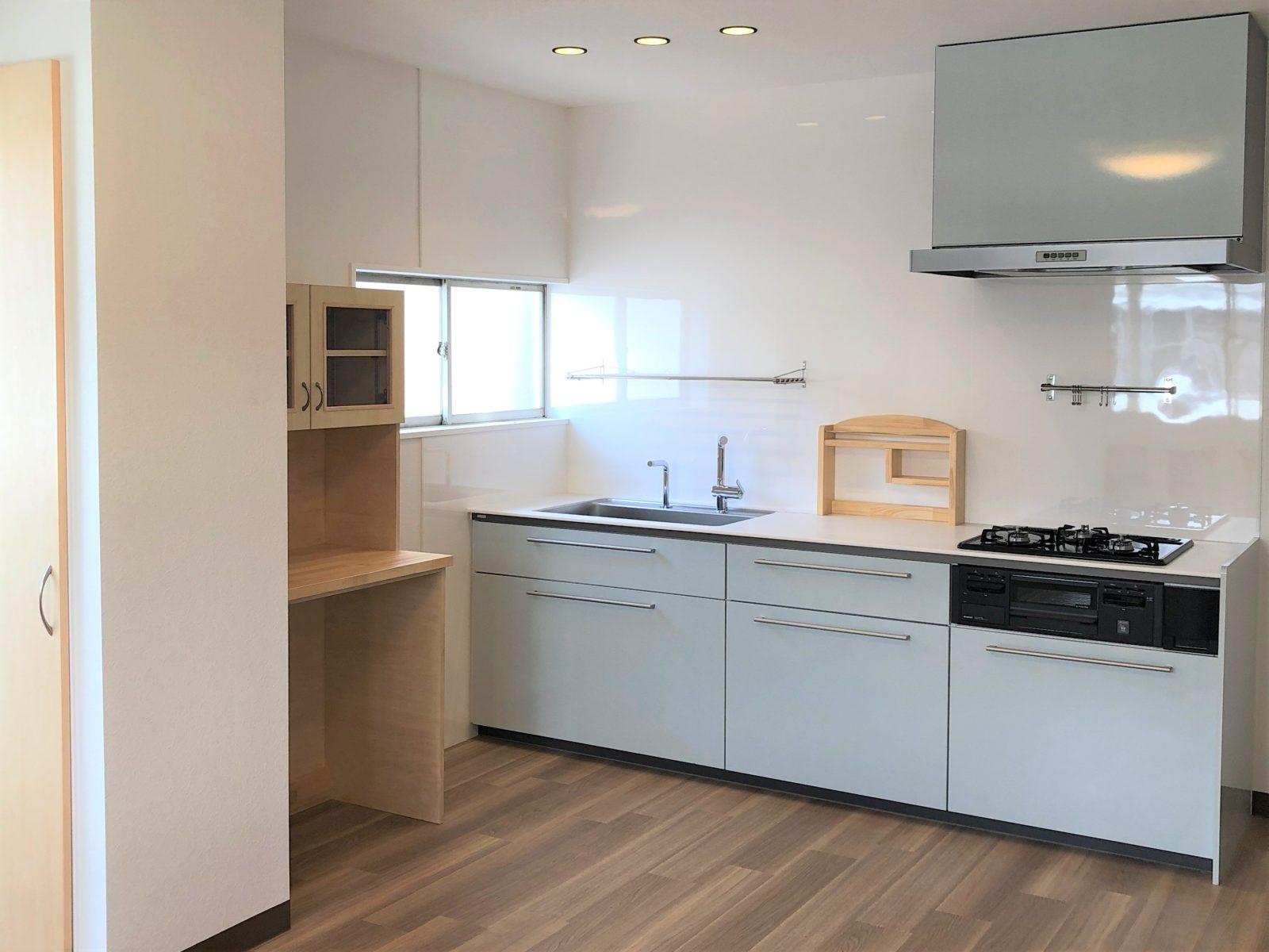 新しいシステムキッチンは使いやすさ・掃除のしやすさ◎