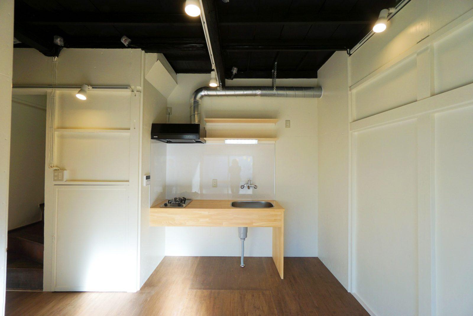 自然素材の造作キッチン20万円~